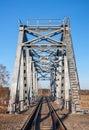 Box girder train bridge steel a fine example of a at riga Stock Images