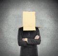 Box on head Royalty Free Stock Photos