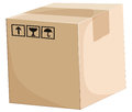 A box illustration of on white background Royalty Free Stock Photography