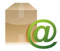 Box and mail sign illustration design Stock Photography