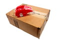 Box with Packing Tape Royalty Free Stock Photography