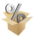 Box and percentage illustration design Royalty Free Stock Images