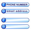 Box for phone and mail address adress Stock Image