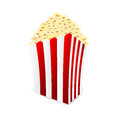 Box of popcorn on white background icon Royalty Free Stock Photos