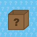 Box question mystery with mark Royalty Free Stock Photo