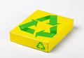 Box with recycle symbols. Stock Photos