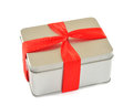 The box with red ribbon Royalty Free Stock Images
