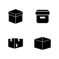 Box. Simple Related Vector Icons