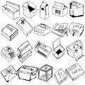 Box sketches Royalty Free Stock Image