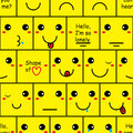 Box smile wall seamless pattern Royalty Free Stock Photo
