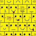 Box Smile Wall Seamless Pattern
