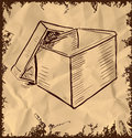 Box on vintage background vector illustration this is file of eps format Royalty Free Stock Images