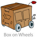 Box on Wheels Stock Image