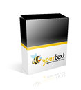 Box on white background Royalty Free Stock Photo
