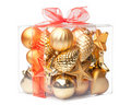 Box with xmas ball Royalty Free Stock Image