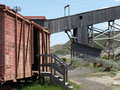 Boxcar and mine shaft. Stock Images