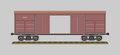 Boxcar vector illustration eps opacity Royalty Free Stock Photo