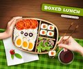 Boxed Lunch Illustration Royalty Free Stock Photo