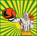 Boxer Boxing Jabbing Front Royalty Free Stock Photos