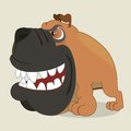 Boxer dog cartoon illustration of Stock Images