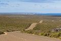Boxer Drive, windy wavy roadway on Kangaroo Island, South Austra Royalty Free Stock Photo