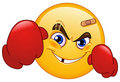 Boxer emoticon Royalty Free Stock Photo