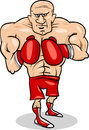 Boxer sportsman cartoon illustration illustrations of or fighter Royalty Free Stock Image