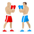 Boxers athletes stand in rack illustration format eps Royalty Free Stock Photos