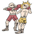 Boxers fighting an image of two Stock Images