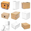 Boxes collage Royalty Free Stock Photo