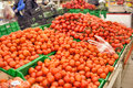 Boxes with fresh tomatoes Royalty Free Stock Photo