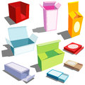 Boxes in many colors Stock Photography