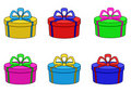 Boxes multi-coloured, round Royalty Free Stock Images