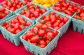 Boxes of red cherry tomatoes Stock Photography
