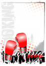 Boxing background Stock Photos