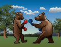 Boxing Bear Royalty Free Stock Photo