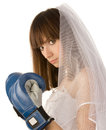 Boxing bride. Stock Image