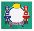 Boxing cartoon logo