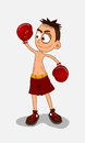 Boxing champ winner an illustration champion loss character doe by software Royalty Free Stock Photos