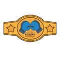 Boxing championship belt isolated icon