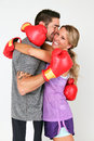 Boxing Couple Royalty Free Stock Image