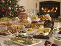 Kabica bufet obed vianočný stromček