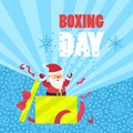 Boxing day sale concept background, flat style