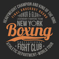 Boxing, fight club typography for t-shirt print, poster. T-shirt graphics