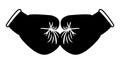 Boxing gloves black on white stock image illustration Stock Photo