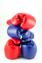 Boxing gloves fighting equipment and a fitness Stock Photography