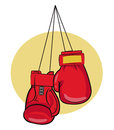Boxing Gloves. Gloves Vector Illustrations. Boxing Gloves Icon. Boxing Gloves On A Nail. Gloves For Kid. Royalty Free Stock Photo