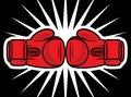 Boxing gloves strike vector illustration of Royalty Free Stock Image