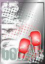 Boxing golden poster background 3 Royalty Free Stock Images