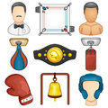 Boxing icon sport illustration of a set Stock Photos